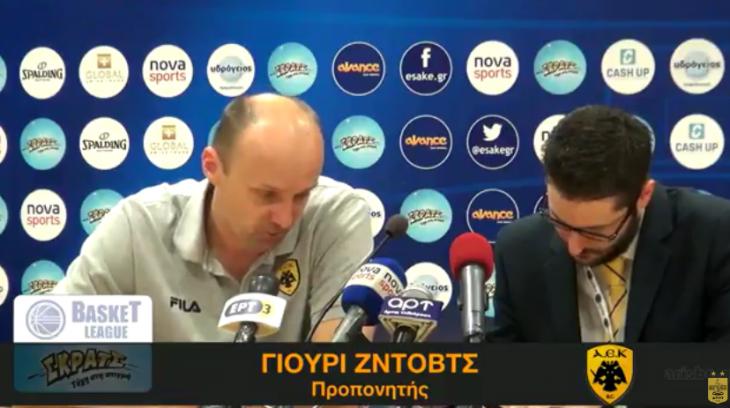 Ο μεταφραστής του Ζντοβτς άφησε τον πάγκο και πήγε στις κερκίδες για να βρίζει!