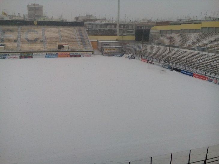To Κλεάνθης Βικελίδης αυτήν την ώρα: «βούλιαξε» από το χιόνι (photo)