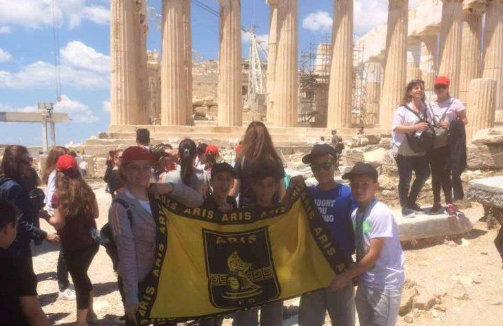 Η σημαία του Άρη λάμπρυνε και τον «ιερό βράχο» της Ακρόπολης! (photo)
